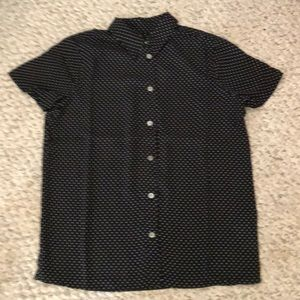 J. Crew Factory Short Sleeve Button Up Top